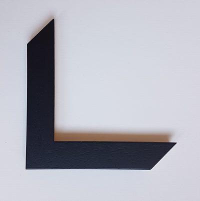Black open grain frame moulding