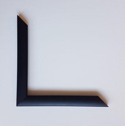 Black smooth cushion shaped moulding